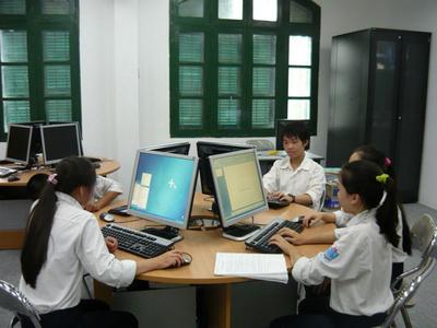 Phòng máy tính Lab-room do Malaysia tài trợ