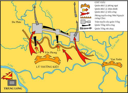 Lược đố trận chiến tại phòng tuyến sông Như Nguyệt