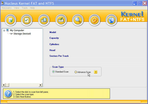 Nucleus Kernel NTFS is a advance easy to use ntfs data recovery software to
