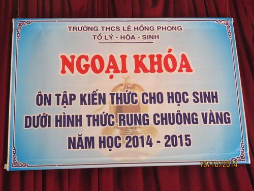 Ngoại khóa Cm lần 1 Hk1 2014