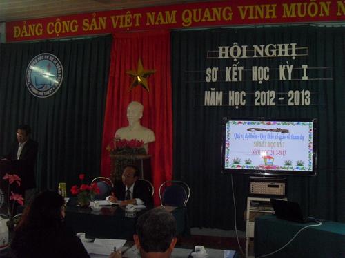 Hội nghị sơ kết học kỳ I - Năm học 2012-2013