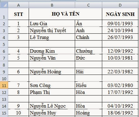 xoa-dong-trong-trong-excel